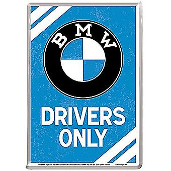 Bmw Drivers Only Metal Postcard / Mini-Sign