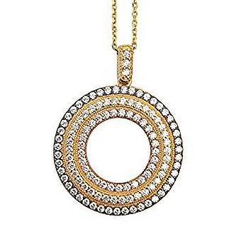 Круг жизни золото ожерелье