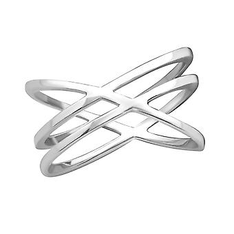 Intertwining - 925 Sterling Silver Plain Rings - W37987x