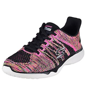 Skechers Womens edgy Low Top Lace Up Running Sneaker
