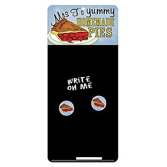 Mrs Ts Yummy Homemade Pies Magnetic & Chalk Notice Board