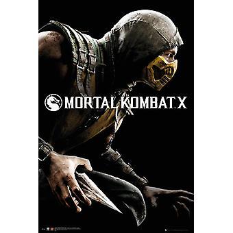 Mortal Kombat X Cover Poster Poster Print