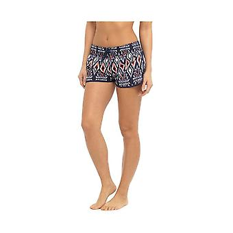 Womens Ladies Ikat Tribal Print Elasticated Summer Holiday Beach Shorts