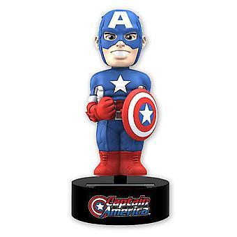 Marvel body knockout Captain America Lori figure made of plastic, solar powered.