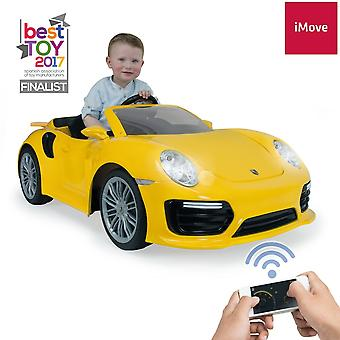 Licensed Porsche 911 Turbo S 6V Electric Ride on Car Yellow - Injusa
