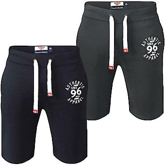 Duke D555 Mens Powell King Size Big Tall Embroidered Applique Fleece Shorts
