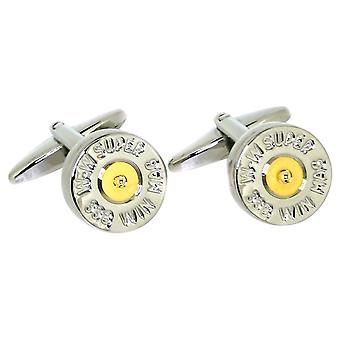 David Van Hagen tondo fucile cartuccia paese gemelli - argento/oro
