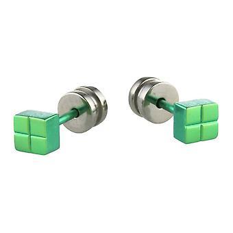 Ti2 tytanu placu kolczyki - zielony świeży