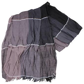 Knightsbridge Neckwear Block Cotton Scarf - Beige/Grey/Black
