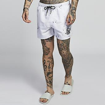 Sik Silk Standard Swim Shorts Off White