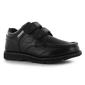 Kangol Kids Harrow Strapped Boys Dual Hook and Loop Leather Shoes Slip On