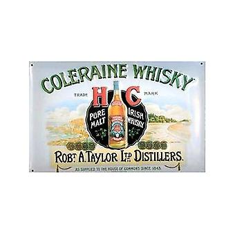 Coleraine Whisky Embossed Steel Sign