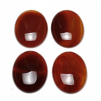 الحزمة 4 × العقيق الأحمر/براون المسطحة الظهر 8 × 10 مم 3 مم البيضاوي كابوشون سميكة Y08530