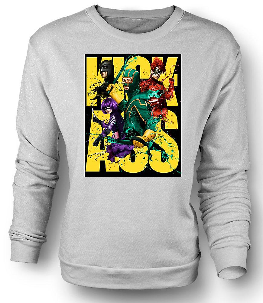 Mens Sweatshirt Kick Ass superhjälte - B film - affisch