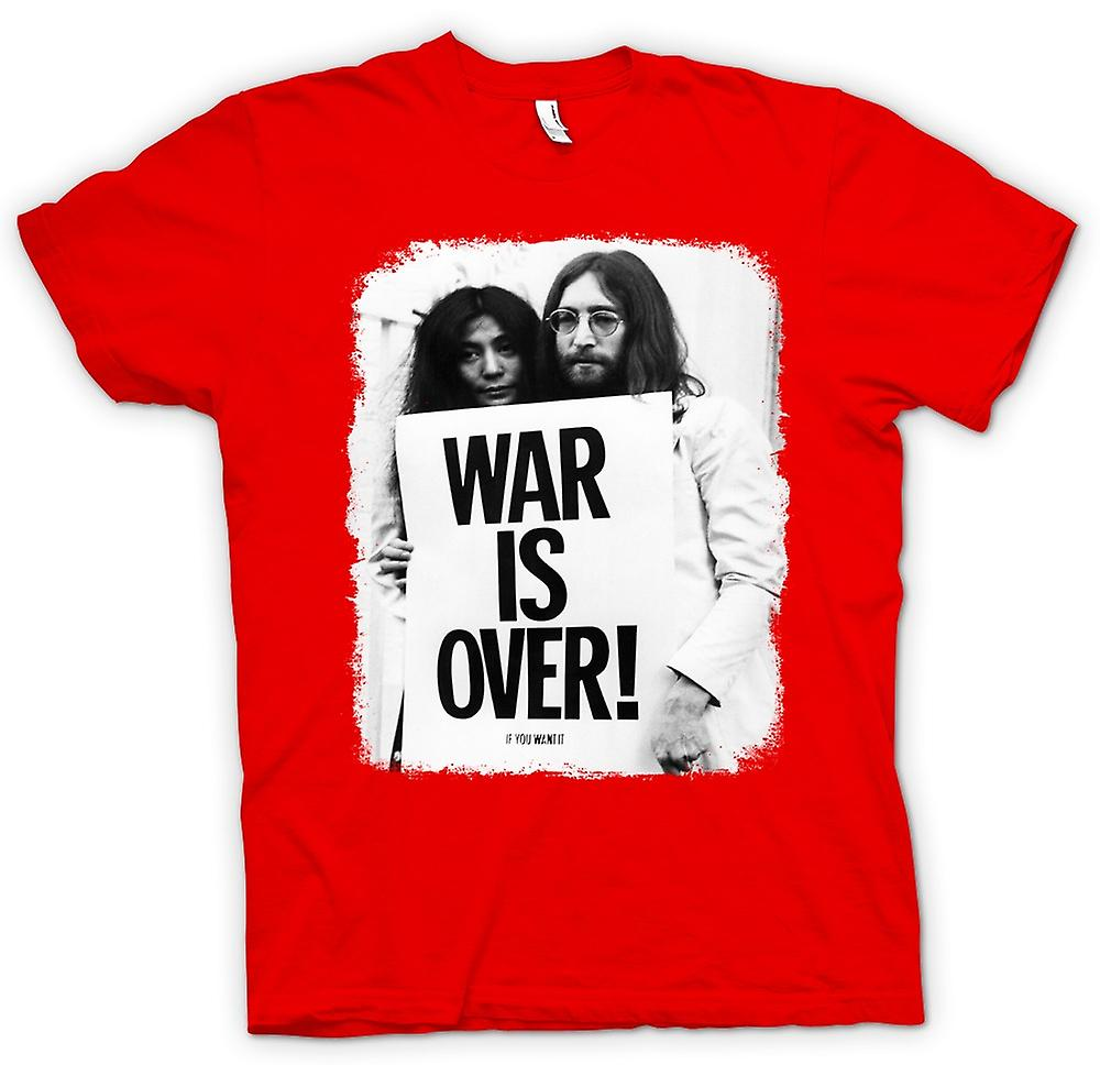 Herren T-Shirt - John Lennon & Yoko - War Is Over