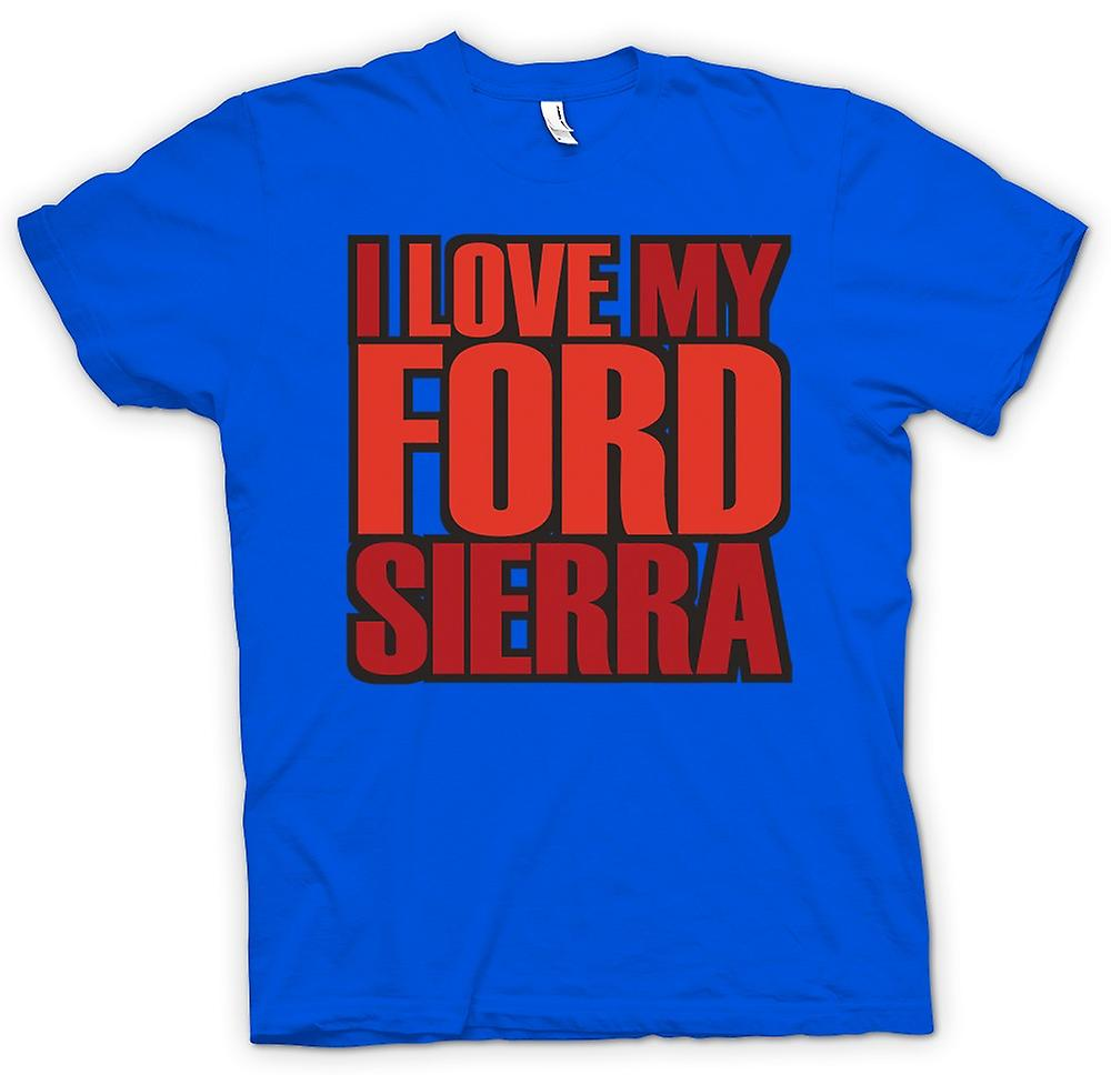 Mens T-shirt - I Love My Ford Sierra - Car Enthusiast
