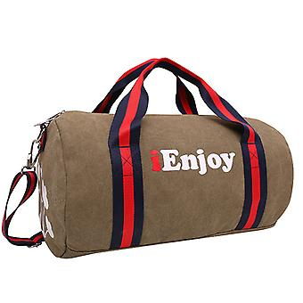 Weekender bag or Holdall in linen, 42x25x25 cm