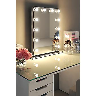 Diamond X Mirror Finish Hollywood Makeup Mirror Dimmable LED h252