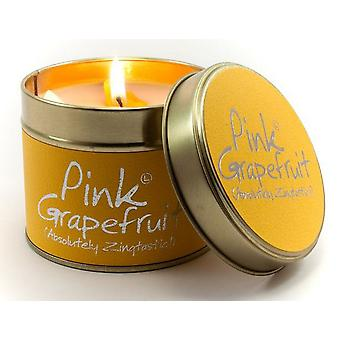 Lily Flame Scented Candle in a presentation Tin - Pink Grapefruit