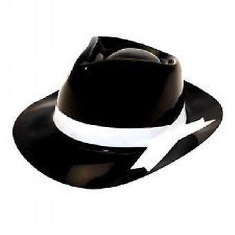 Gangster Hat Black With White Band