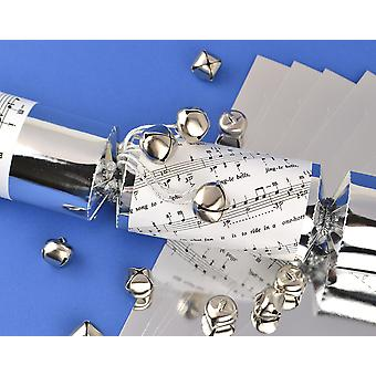 8 Silver Foil Jingly Jingle Bells Make & Fill Your Own Christmas Crackers Kit