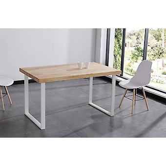 Wellindal Fixed dining table natural wild / white oak.