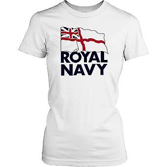 Royal Navy flaga Panie T Shirt