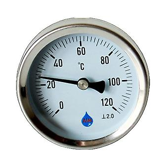 Temperatura industriale metallo calibro quadrante 1/2