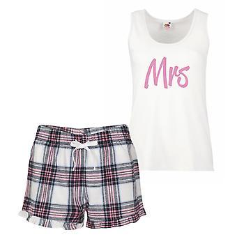 Mrs rosa Tartan Pyjamas