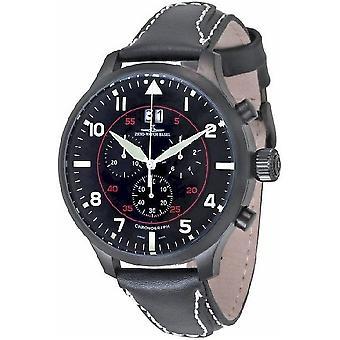 Zeno-watch reloj SOS Chrono Navigator negro 6221N-8040Q-bk-a1
