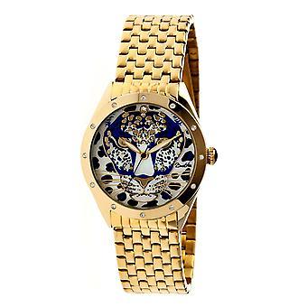 Bertha Alexandra MOP Damen Armband-Uhr - Gold/blau