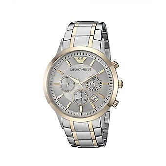 Emporio Armani Ar11076 Mens Two Tone Chronograph Bracelet Watch