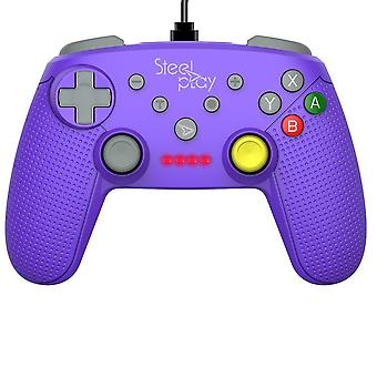 Steelplay-Wired Controller GCube Purple For Nintendo Switch