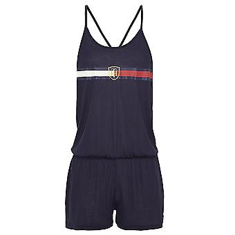 Tommy Hilfiger Women Tommy Hilfiger Women Pure Lyocell Statement Back Crest Playsuit / Romper , Navy, X-Small