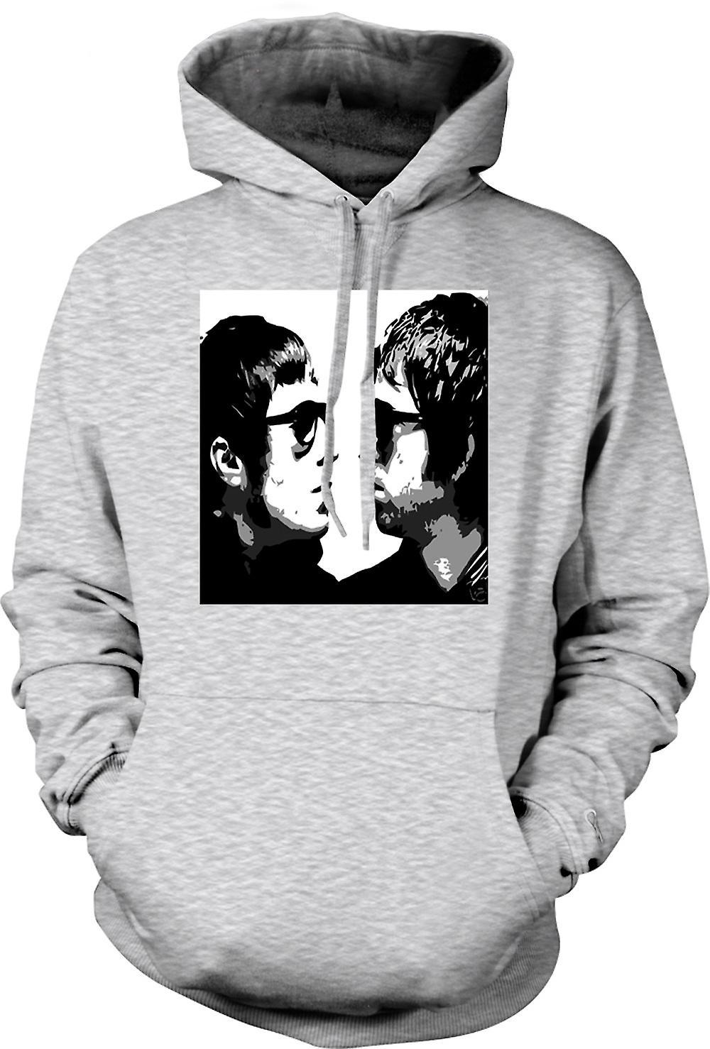 Mens Hoodie - Liam and Noel - Oasis