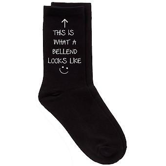 Mens This Is What A Bellend Looks Like Black Calf Socks