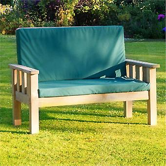 Zest 4 Leisure Christina 2 seat Wooden Bench with Pad
