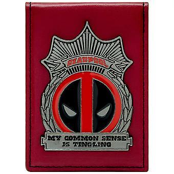 Marvel Deadpool Metal Badge ID & Card Bi-Fold tegnebog