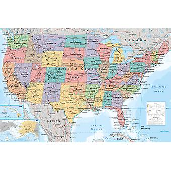 USA Map Maxi Poster 61x91.5cm