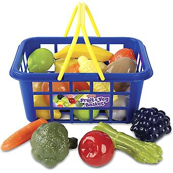 كاسدون سلة الخضروات والفاكهة قليلاً للمتسوقين