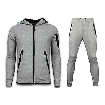 Tracksuits Basic-Neon Ropes Joggingpak-Grey