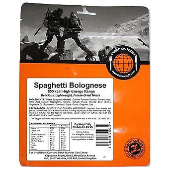Expedition livsmedel ingen färg spaghetti bolognese