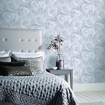 Arthouse Reverie Floral damast patroon behang Rose bloemmotief 3D effect 623303