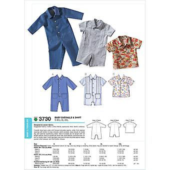 Overall & Shirt S M L Xl Xxl Muster K3730