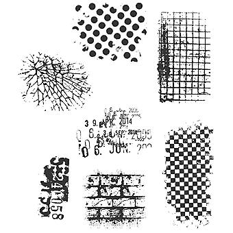 Tim Holtz Cling Rubber Stamp Set Grunge ultime Cms 075