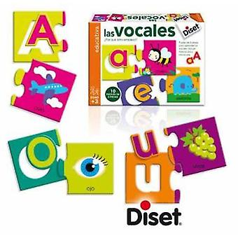 Diset The Vowels (Kids , Toys , Table Games , Puzzles)