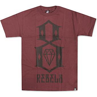 REBEL8 Logo t-shirt Maroon