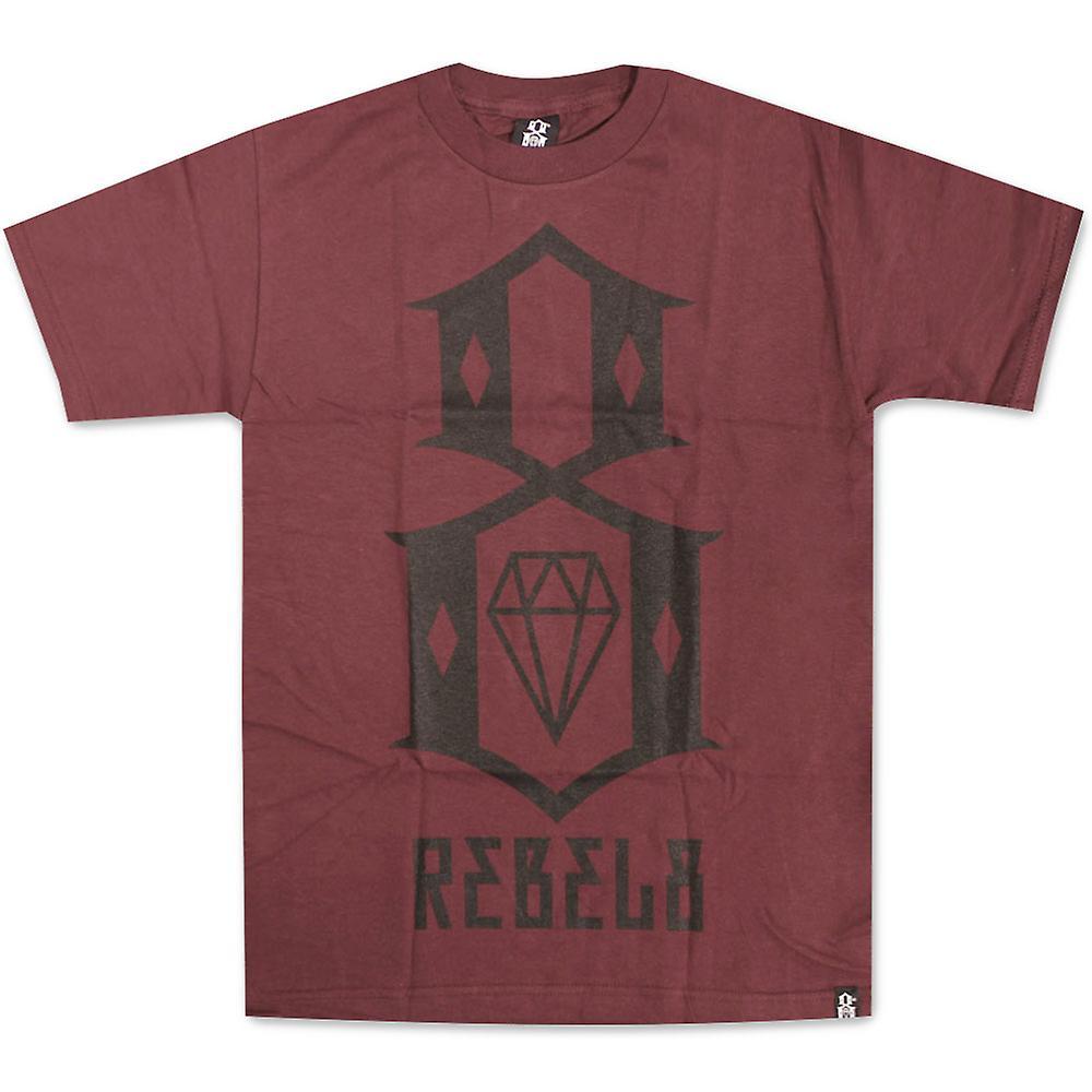 Rebel8 Logo T-shirt kastanienbraun