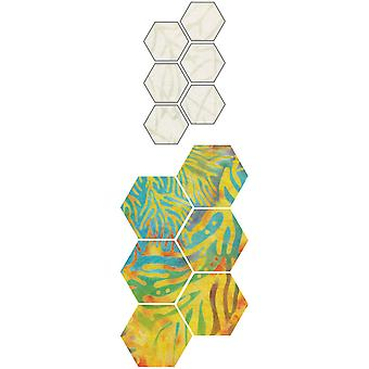 GO! Fabric Cutting Dies-Paper Piecing Hexagon 1/2