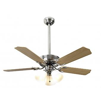 Ceiling Fan Vienna stainless steel with light 107 cm / 42""